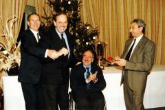 Nella foto: Mauro Forghieri-Gino Macaluso-Clay Regazzoni-Michele Alboreto